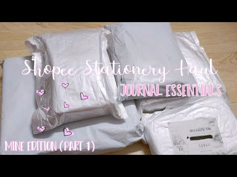 Shopee Stationery Haul (Journal Essentials) Mine Edition (Part 1)   Shopee Haul