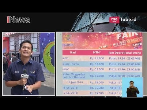 Inilah Harga Tiket Masuk Dan Jadwal Jakarta Fair Kemayoran 2018 - INews Siang 26/05