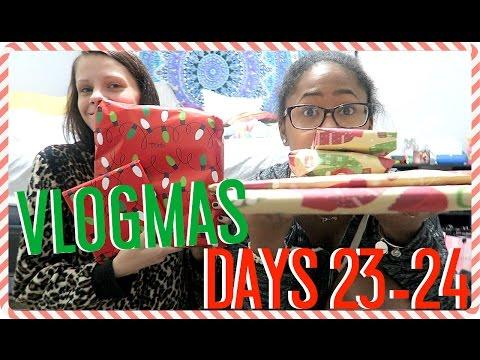 GIFT SWAP W/ BESTFRIEND!! | VLOGMAS DAYS 23-24