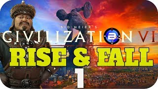 Video BEST START EVER? ▶Civilization 6 RISE & FALL: GHENGIS KHAN of MONGOLIA◀ EP1 Civ VI Rise and Fall download MP3, 3GP, MP4, WEBM, AVI, FLV Maret 2018