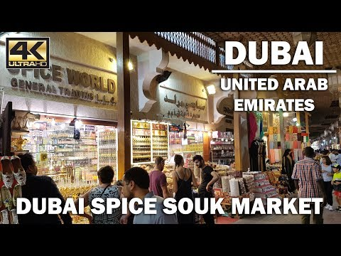 Market Tour | Walk around Spice Souk, Dubai, Deira district [4K]