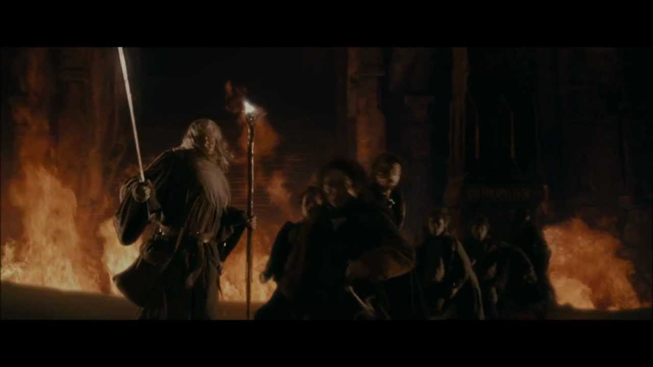 Lotr The Fellowship Of The Ring The Fall Of Gandalf