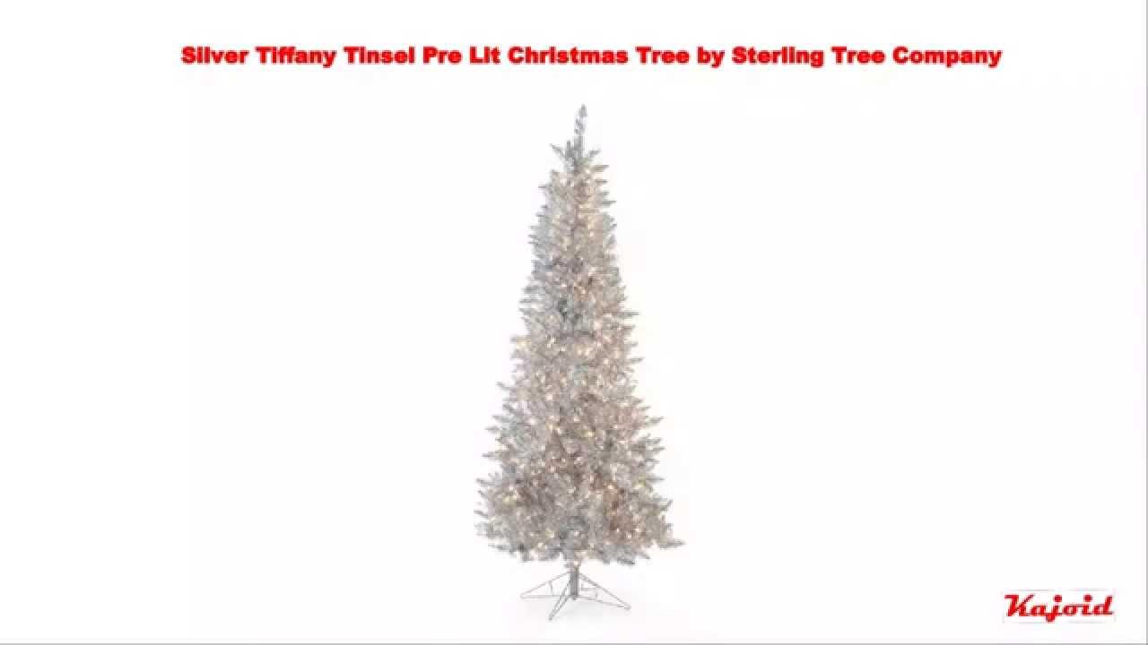 Silver Tiffany Tinsel Pre Lit Christmas Tree 7 5