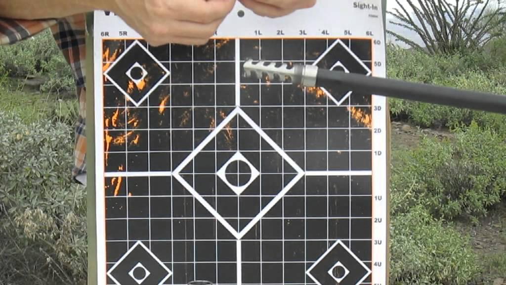 Witt Machine muzzle brake on 243 caliber Ruger American Rifle Predator model