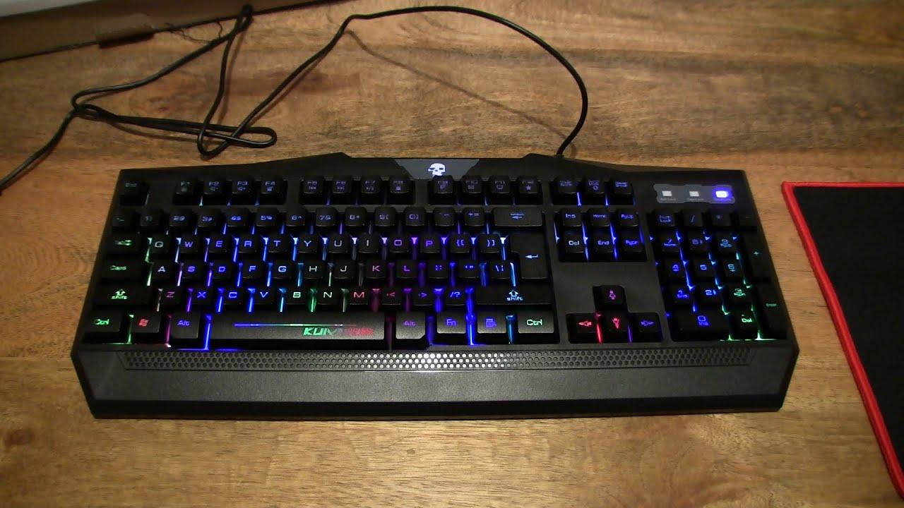 mftek gaming keyboard with mouse pad youtube. Black Bedroom Furniture Sets. Home Design Ideas