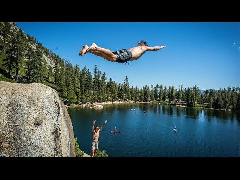 Insane Cliff Jumping - A How-To Guide with Robert Wall in Lake Tahoe
