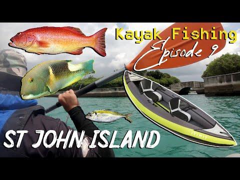 Kayak Fishing Singapore Episode 9 - Multi Species In St John Island Using DECATHLON ITIWIT