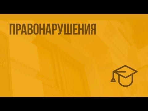 Правонарушения. Видеоурок по обществознанию 9 класс