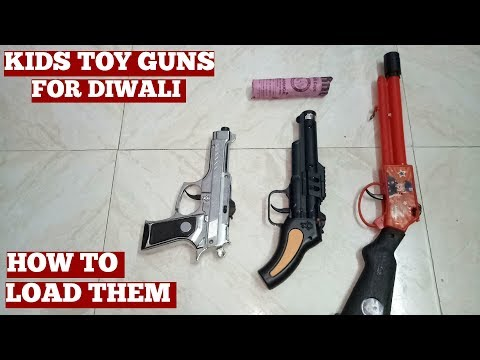 Toy Guns For Kids And Children And Crackers For Diwali Festival In India-YouTube Video In My Channel
