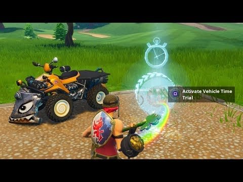 Fortnite Battle Royale - All 5 Vehicle Timed Trials Locations (Season 6 Challenges)