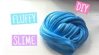 DIY FLUFFY SLIME!! without BORAX or SHAVING CREAM