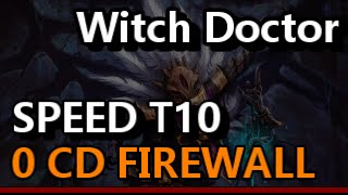 Witch Doctor 0CD Firewall Helltooth 2-3 Min Torment 10 Rifts 2.3 Diablo 3 RoS