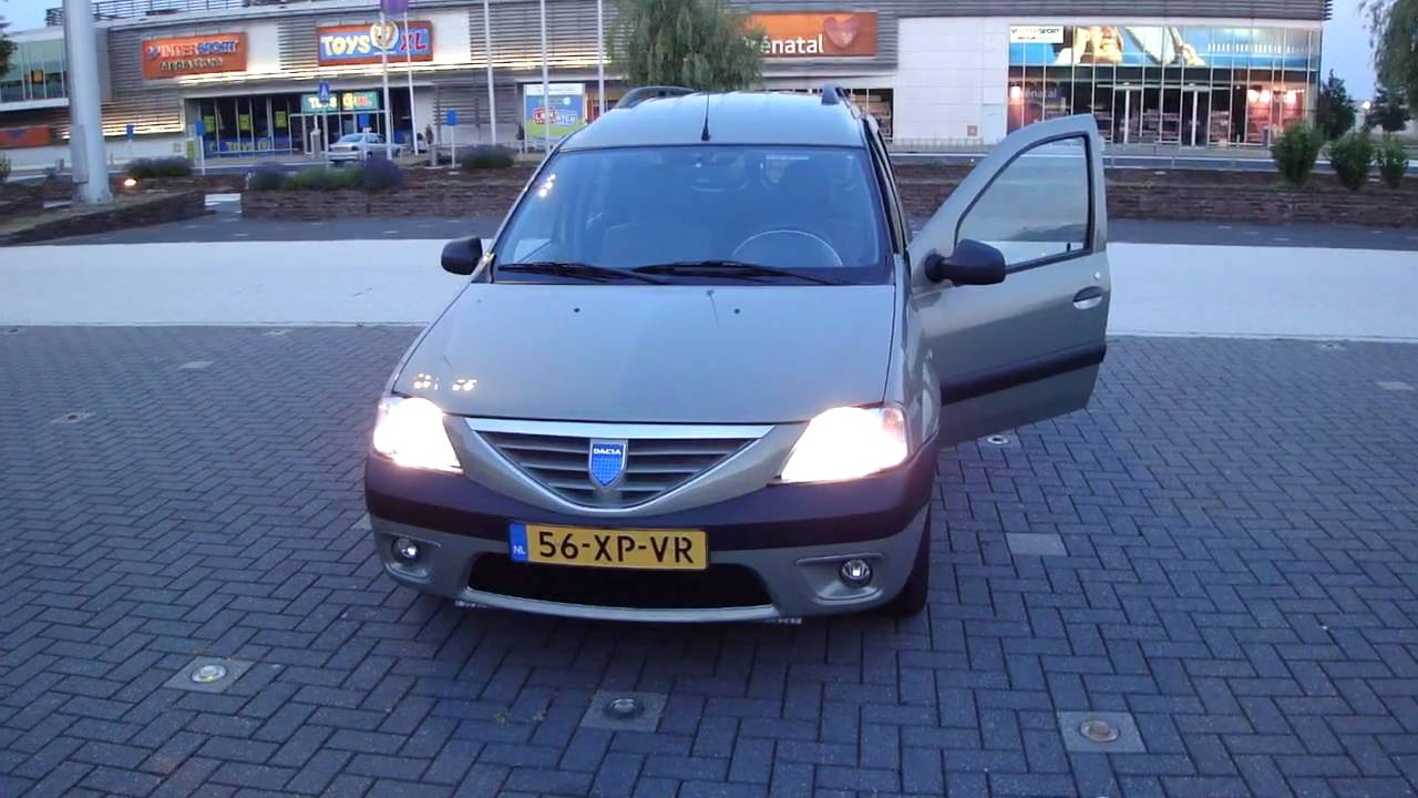 dacia logan mcv follow me home verlichting