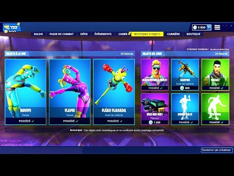 BOUTIQUE FORTNITE du 2 Mars 2019 ! ITEM SHOP March 2 2019 !