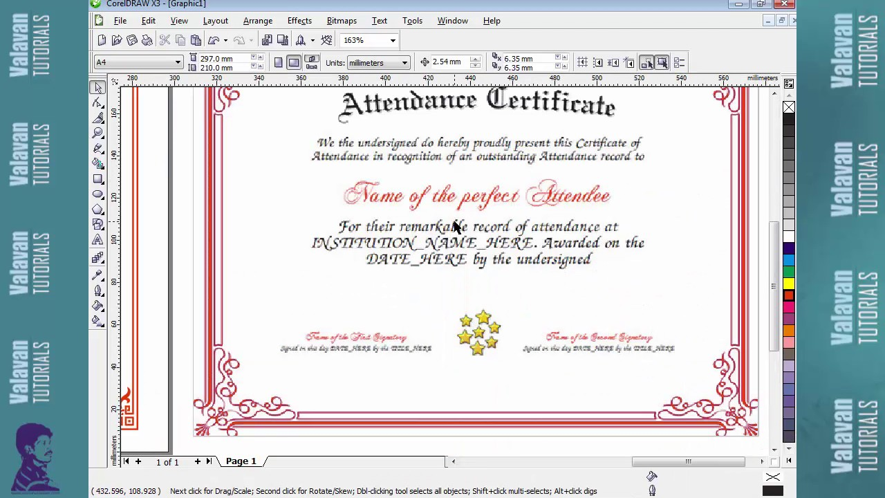 certificate design tutorial in corel draw x3
