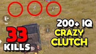 MY NEW RECORD! 200+ IQ GAMEPLAY! | 33 KILLS SOLO VS SQUAD | PUBG MOBILE