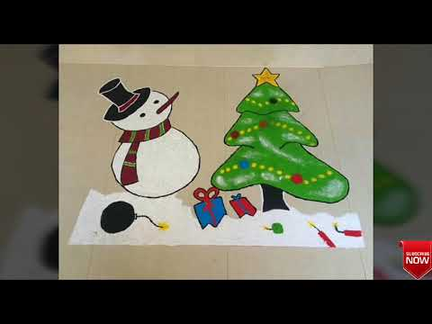 Simple And Easy Christmas Rangoli Designs || Christmas Special Rangoli Designs