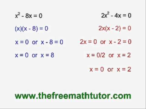 Solve A Quadratic By Factoring Common Factor And Difference Of