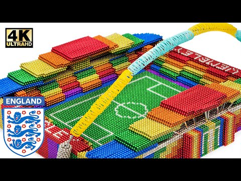 DIY -  Build Wembley Stadium From 100,000 Magnetic Balls (Satisfying) | Magnet World Series