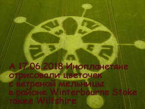 Инопланетяне нарисовали колесо, цветочек с мельницы и саму мельницу с картины написанной 12.03.2018