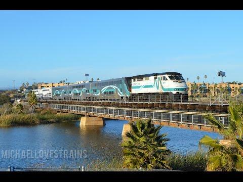 Railfanning Oceanside - Amtrak. Coaster, Metrolink, & Sprinter Trains Featured
