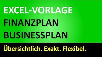 Excel-Vorlage Finanzplan-Businessplan
