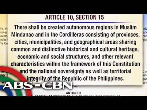 What the Constitution says about the Bangsamoro Law?