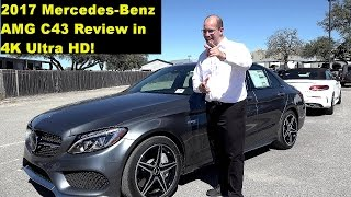 2017 mercedes amg c43 extended review test drive self driving tech demo in 4k hd
