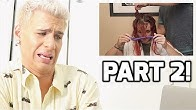 HAIRDRESSER REACTS TO JENNA MARBLES MESS UP HER HAIR FOR 6 MINUTES STRAIGHT PT. 2 | bradmondo