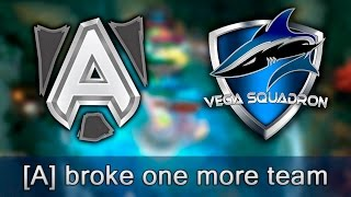 Alliance broke one more team — Vega