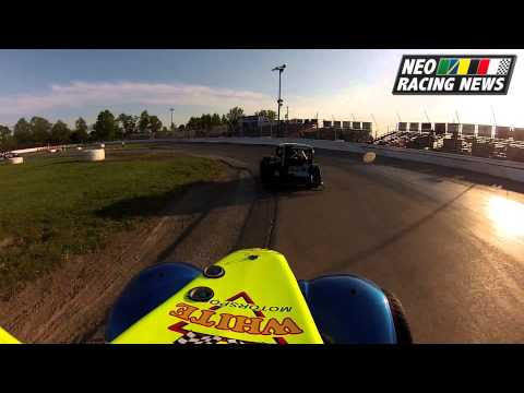 NEO Racing News - R.J. White Crashes at Lake County Speedway - 5/17/13
