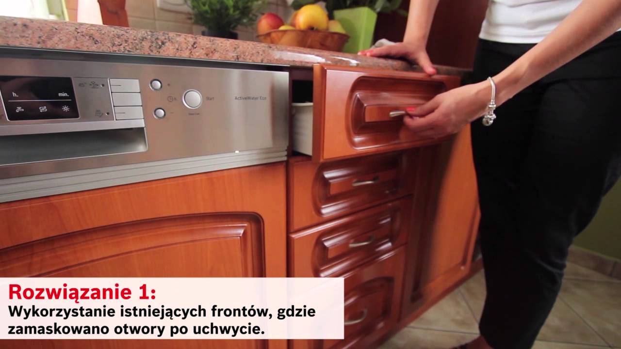 Montaż zmywarki w miejsce szafki z szufladą  YouTube