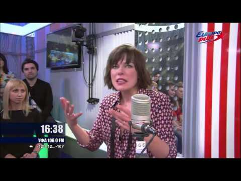 Milla Jovovich interview on Russian Radio