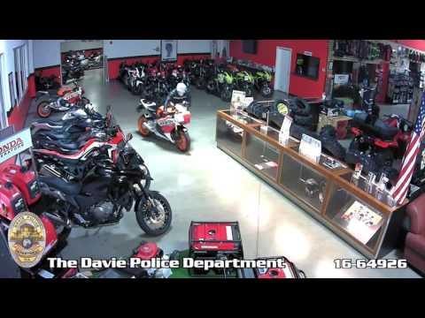 Rick Case Honda Powersports motorcycle burglary.