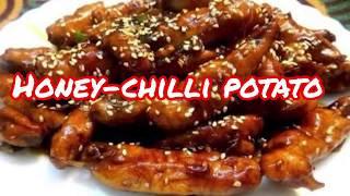 #Honey-Chilli Potato Recipe | Crispy Restaurant Style Starters| #Rakshabandhan starters recipes