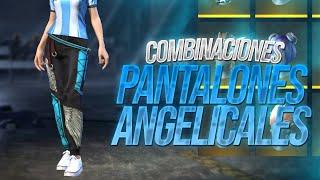 Las Mejores Combinaciones Con Los Pantalones Angelicales Femeninos Free Fire Mateo Xd Youtube