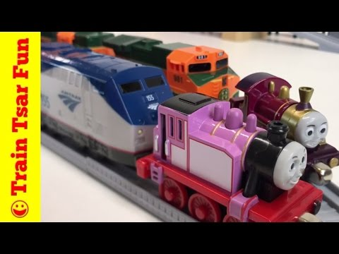 Thumbnail: BNSF Freight Train Set with Thomas Take N Play Lady and Rosie