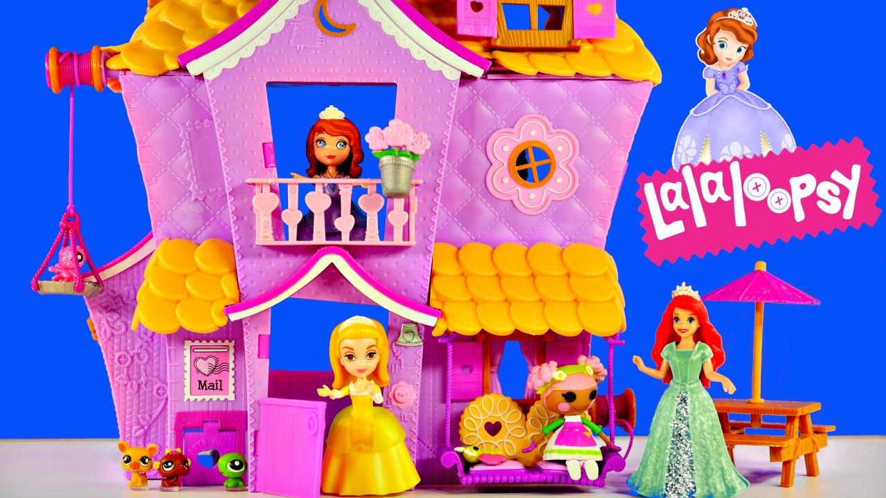 Princess sofia the first magiclip ariel shopkins doll house youtube