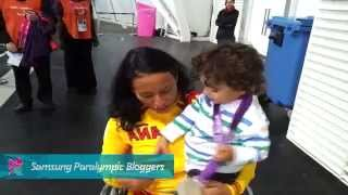 Teresa Perales Spain - The most special moment: I give my first medal to my son, Paralympics 2012