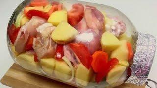 Мама научила готовить курицу в банке: пальчики оближешь. Делюсь простым рецептом