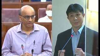Exchange in Parliament between SM Tharman and MP Jamus Lim