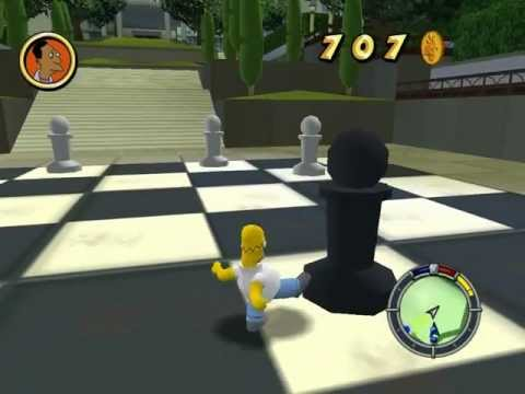 Simpsons hit and run giant chess board