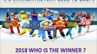 IPL SEASONS AND RESULTS 2008 - 2017  \ History of IPL winners liast \IPL winners \