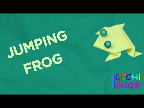 Jumping Frog Making | Simple Paper Folding Crafts for Kids Fun | Easy Origami Activities for Toddler