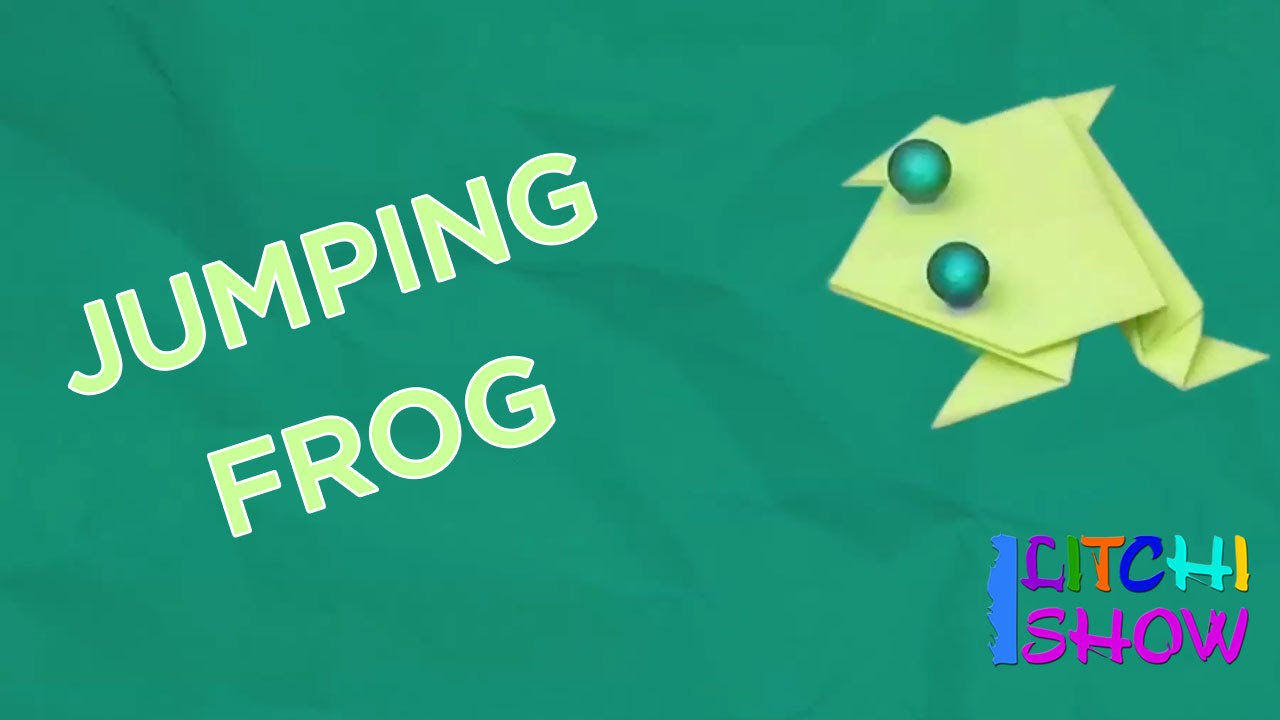 Jumping Frog Making Simple Paper Folding Crafts For Kids Fun