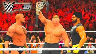 The Rock & Brock Lesnar Return to RAW! (WWE 2K16 MyCareer Part 36)