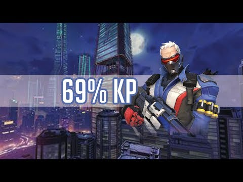 Overwatch - Kabaji Fragging Out as Soldier 76 With 69% Kill Participation