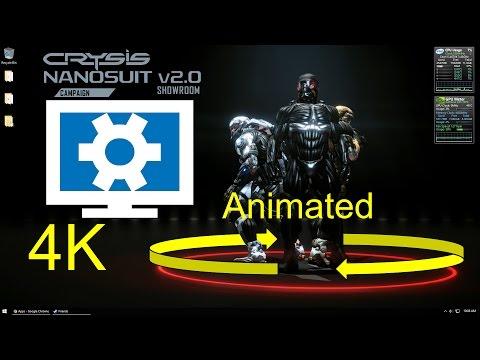 Crysis Nanosuit Showroom 4K - Wallpaper engine