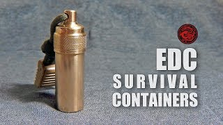 MAKE EDC BRASS BOTTLE | SURVIVAL CONTAINERS