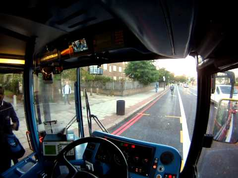 London Bus Driver View Night to Day from Garage - Part 3 ✔
